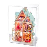 Bricolaje casa de muñecas de madera de madera hechos a mano regalo para niños