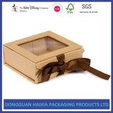 PVC Windowsが付いている堅いボール紙のFoldable包装ボックス