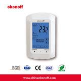 Pantalla táctil de habitaciones bobina del ventilador eléctrico del termostato de calefacción (TSP730E)