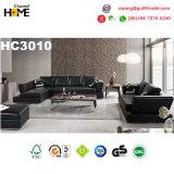Popular mobiliario moderno salón sofá de cuero de grano superior (HC3010)