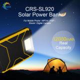 Водонепроницаемый телефон внешнего аккумулятора новых 12000mAh солнечной энергии банка