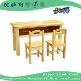 幼稚園の6のための木の子供の二重机表(HG-3803)