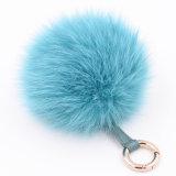 Nuovo sacchetto della catena chiave della sfera della pelliccia di Fox di disegno