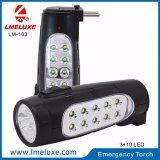 Linterna recargable de la emergencia de 10 LED LED