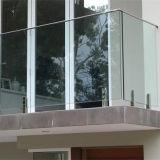 Конструкция Railing крылечку Railing Tempered стекла Frameless для виллы