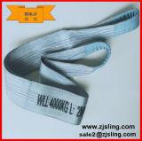Élingue de levage pliée bilatérale de sangle plate de largeur de l'oeil 1/2 d'Eye&Eye de polyester