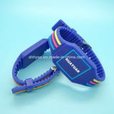 Wristband impreso aduana clásica del silicón 1K RFID de 13.56MHz MIFARE