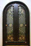 По-французски из кованого железа с арками запись двух передних дверей утюг наружные двери Ei-010