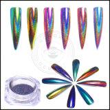 Pigmento olográfico del clavo del laser de la manicura del arte del clavo del camaleón brillante del brillo de Holo