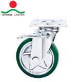 6 Zoll-örtlich festgelegte Qualitäts-Fußrolle mit Stahlkern-Gummifußrollen-Rad, Janpanese Art