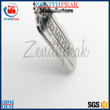 Kundenspezifische Zink-Legierung gravierte Decklack-Silber-Hundeplakette