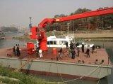Палубный судовой кран корабля крана гидровлического заграждения костяшки телескопичного морской