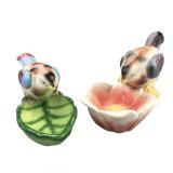 De kleurrijke Dierlijke Ceramische Vogels van het Decor van het Huis van Standbeelden