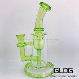 Waterpijp van het Glas van de Ontwerpen van de Kleur van Gldg de Grote Groene Nieuwe Kleine met Uitstekende kwaliteit
