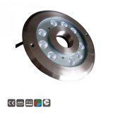 9W/12W de protección IP68 secos fuente RGB LED Lámpara de submarino