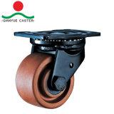Nylonfußrollen mit niedrigem Schwerpunkt Bremsen-Fußrolle