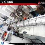 微粒の作成のための水リングの繊維のペレタイジングを施すライン