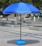 Manual guarda-chuva branco e azul de Sun aberto de praia com MOQ pequeno