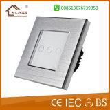 최상 솔질된 알루미늄 금속 벽 전등 스위치, 세륨 RoHS