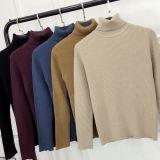Turtleneckknit-Pullover-Strickjacken für Damen