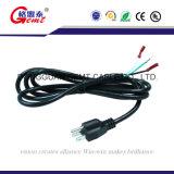 Amerika 3pin Wechselstrom elektrisches Crd Netzkabel
