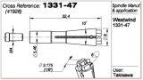 Машины из нержавеющей стали шпиндель инструмента цанговый зажим для плат 41928 сверлильного станка