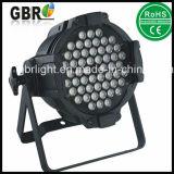 54*3W RGB 3in1 단계 세척 LED 동위 64는 점화할 수 있다