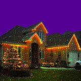 Водонепроницаемый для использования вне помещений RGB статические Firefly лазерный проектор, Рождество лазера