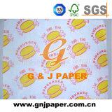 Papier blanc de nourriture de Transulcent de bonne qualité pour l'emballage d'hamburger