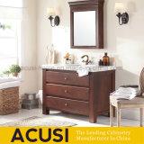 アメリカの現代様式の純木の浴室の虚栄心およびキャビネット(ACS1-W62)