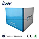 LCD de 7 polegadas de venda quente Brochure-Paper para a promoção de placa de vídeo