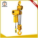 alzamiento de cadena eléctrico 7.5t con la carretilla para la venta