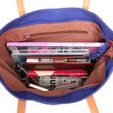 Borsa personalizzata della spalla di modo della signora di sacchetto di svago del sacchetto di Crossbody tela di canapa