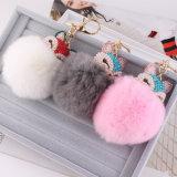 Sfere della pelliccia del coniglio degli accessori della sfera della pelliccia dei fiocchetti della pelliccia di modo