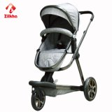 Carro de bebê de três rodas com boa estabilidade