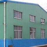 La lana de la fibra artesona el edificio estructural de acero industrial