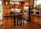 Armadio da cucina 2017 su ordine di legno solido di offerta della fabbrica E1 di nuovo disegno di Bck