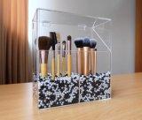 Support de balai acrylique clair élégant moderne personnalisé avec le couvercle