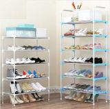 Schuh-Schrank bereift einfache bewegliche Schuh-Zahnstange der Zahnstangen-Speicher-große Kapazitäts-Ausgangsmöbel-DIY (FS-04)