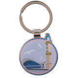 Liberare la catena chiave di marchio in lega di zinco di disegno con l'anello portachiavi