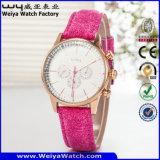 Классицистический wristwatch повелительниц способа кварца кожаный планки (Wy-082E)