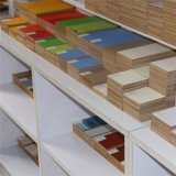 Base de grain de bois décoratifs Papier pour tables de bar (K1707)
