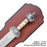 قديم رومانيّ فارسة سيف مع لوح معدنيّ [80كم] [هك811]