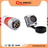 Cnlinko Dh 20の防水IP65/IP67ケーブルコネクタ4pinの金属の物質的な評価される流れ20armsの自動車のコネクター