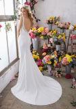 Vestito da cerimonia nuziale dello Spandex del paese della spiaggia degli abiti nuziali del merletto Lb6853