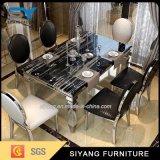 6脚の椅子が付いているステンレス鋼の家具のレストラン表