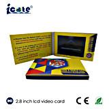 Écran LCD de 2.8 pouces de haute qualité Vidéo Brochure/carte vidéo pour la promotion du produit