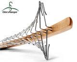 24個の折られた金属のホックが付いている木のタイのハンガー