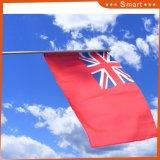 Polyester à bon marché de gros de la Qatar National la main d'un drapeau pour la promotion d'impression
