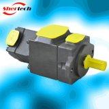 Bombas de aleta PV2r33 do dobro do ruído do deslocamento fixo hidráulico baixas (Yuken, serie do shertech PV2R 33 para máquinas moldando da injeção)